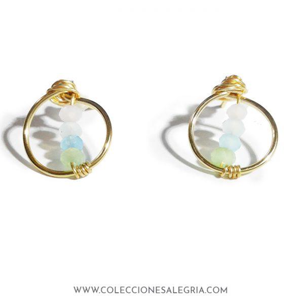 Aretes / Zarcillos Redondos mini con cristales