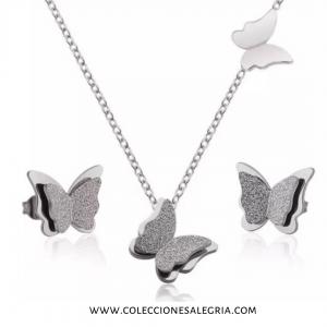 Set de Mariposas de Acero Inoxidable