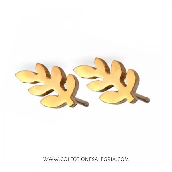 Aretes de trigo de Acero Inox